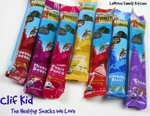 Clif Kid :: The Healthy Snack We Love   LeMoine Family Kitchen #clifbar #clifkid #clif #healthysnack #kidsnack