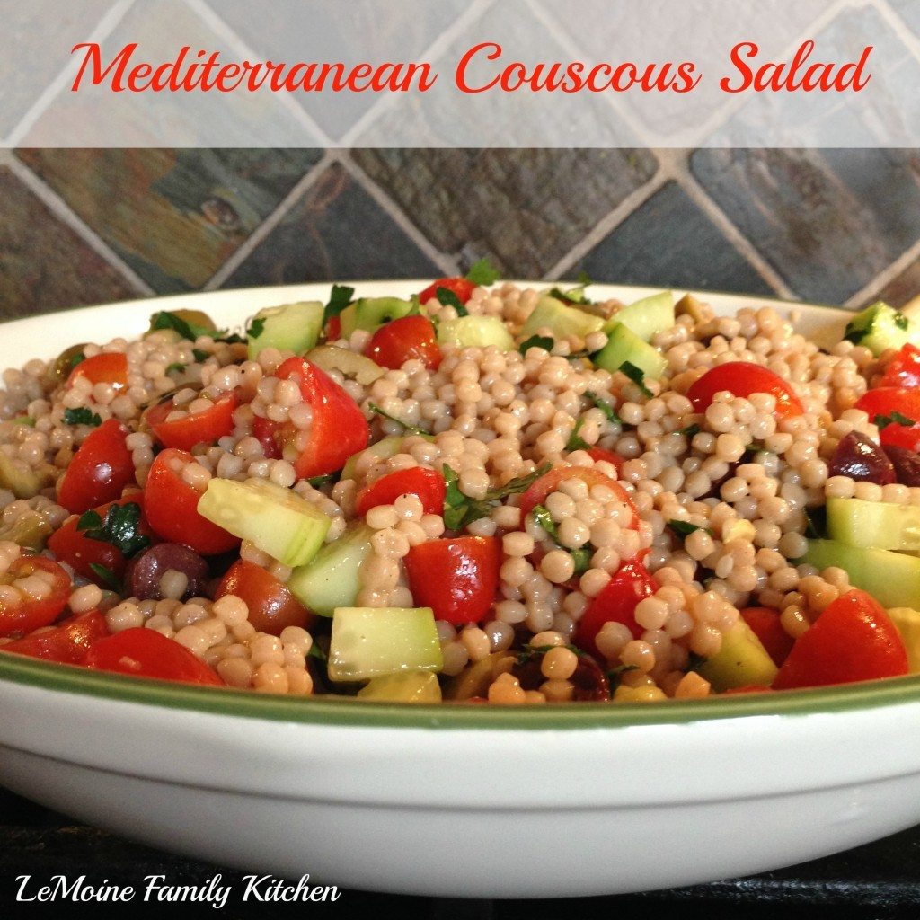Mediterranean Couscous Salad | LeMoine Family Kitchen  #healthy #salad #couscous
