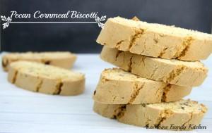 Pecan Cornmeal Biscotti | LeMoine Family Kitchen #cookie #Italian #christmas #holiday #biscotti #baking