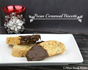 Pecan Cornmeal Biscotti   LeMoine Family Kitchen #cookie #Italian #christmas #holiday #biscotti #baking