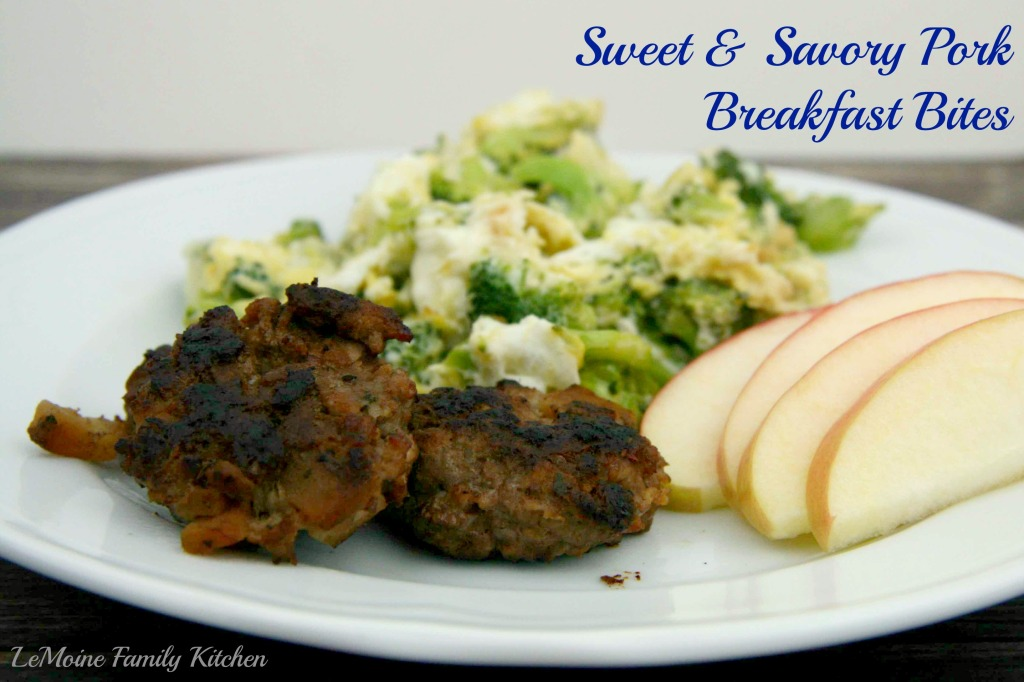 Sweet & Savory Pork Breakfast Bites | LeMoine Family Kitchen  #breakfast #pork #apple