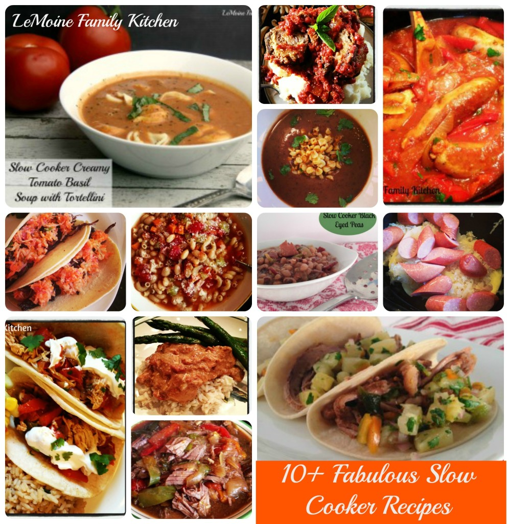 10+ Fabulous Slow Cooker Recipes | LeMoine Family Kitchen  #reciperoundup #slowcooker #soup #tao #chicken #easydinner #beef