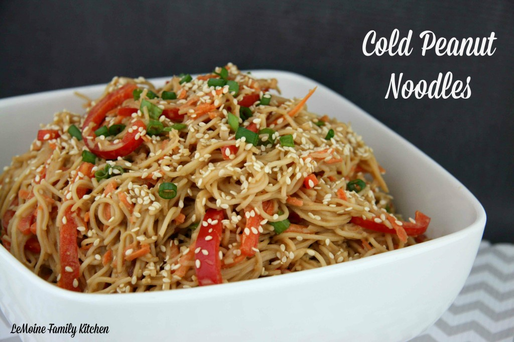 Cold Peanut Noodles | LeMoine Family Kitchen #bestnoodles # ...