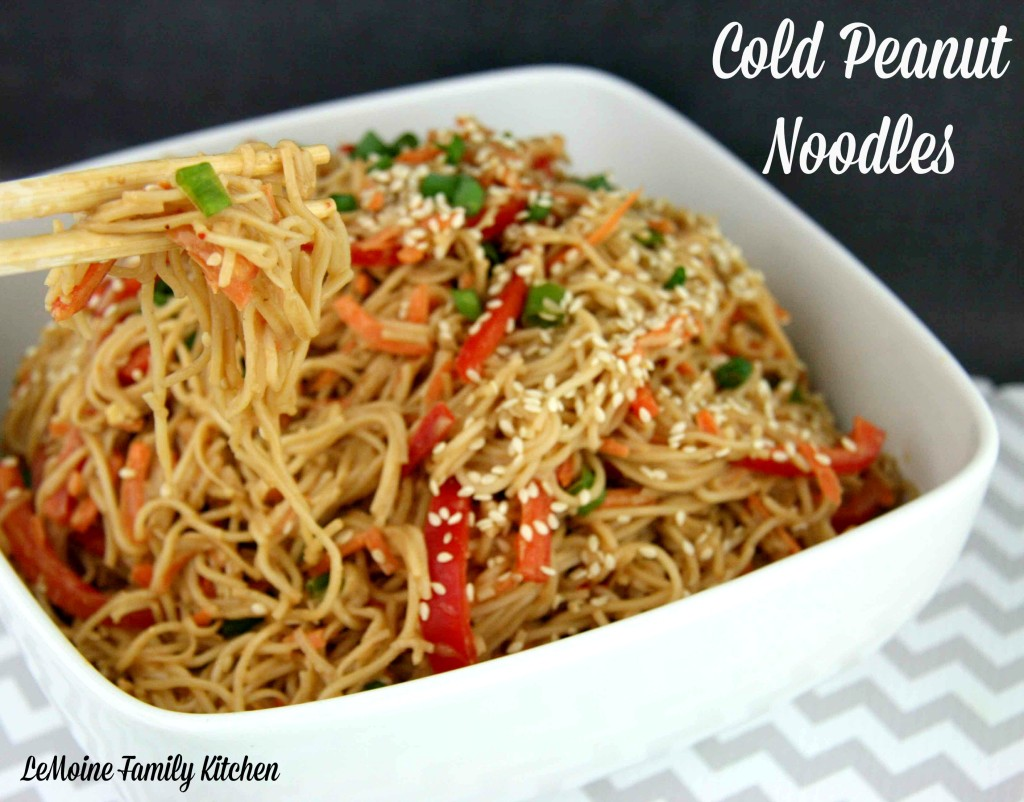 Cold Peanut Noodles | LeMoine Family Kitchen #bestnoodles #peanutnoodles #asian #recipe #easynoodles
