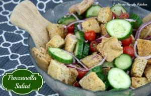 Panzanella Salad   LeMoine Family Kitchen #healthy #bread #salad #vegetable #sidedish