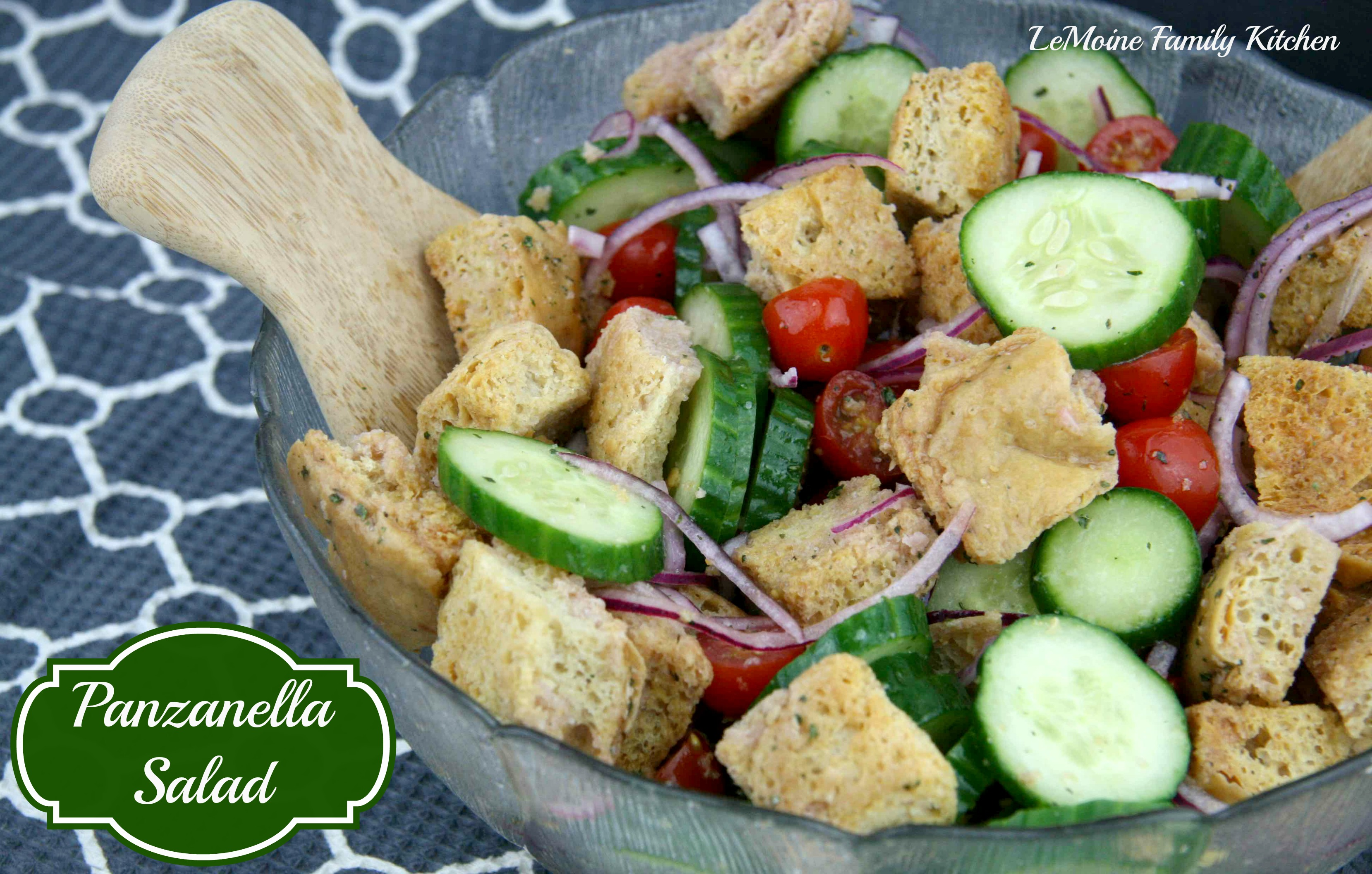 Panzanella Salad | LeMoine Family Kitchen #healthy #bread #salad #vegetable #sidedish