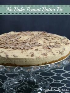 No Bake Peanut Butter Pie | LeMoine Family Kitchen #dessert #easydessert #peanutbutterpie #pie #recipe