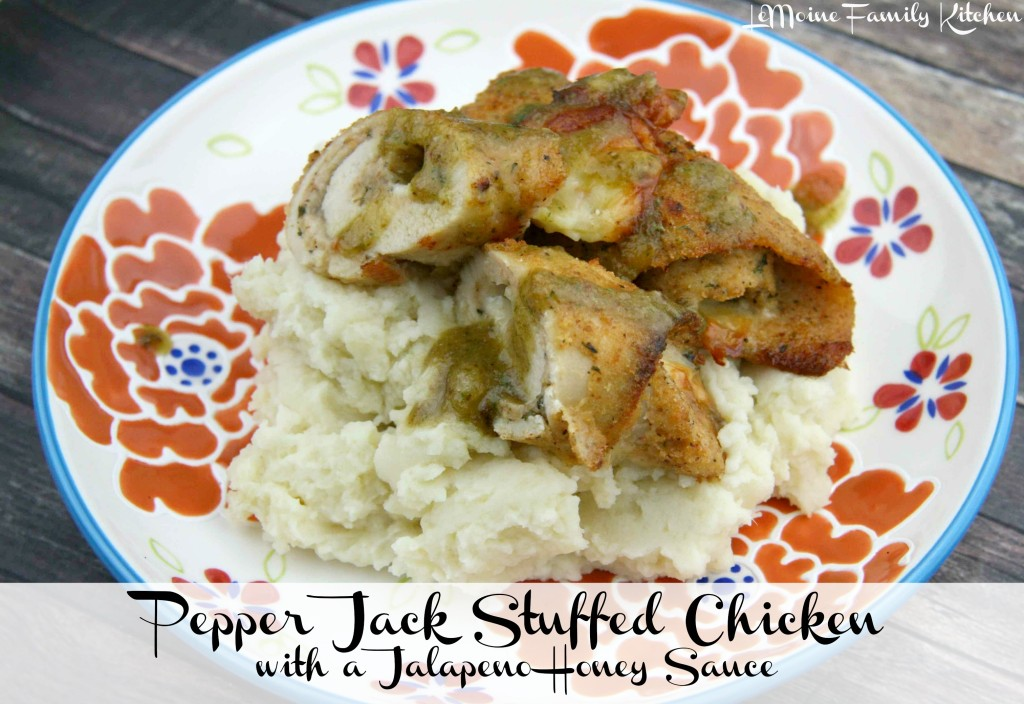 Pepper Jack Stuffed Chicken with a Jalapeño Honey Sauce | LeMoine Family Kitchen  #spicy #easychicken #chickenrecipe #stuffedchicken