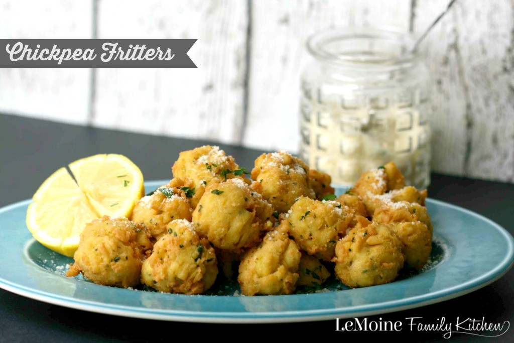 Chickepea Fritters | LeMoine Family Kitchen  AKA Panelle. These fritters are light, crispy and so tasty! Great snack, appetizer or side dish!