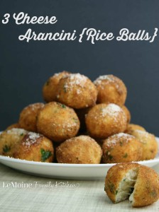 3 Cheese Arancini {Rice Balls}   LeMoine Family Kitchen . These rice balls were a staple in our Italian home growing up.
