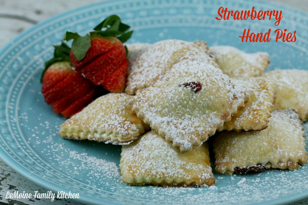 Strawberry Hand Pies | LeMoine Family Kitchen ... A Easy and delicious dessert perfect for Valentines Day or even as a copycat pop tart! SO good!