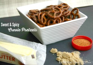 Sweet & Spicy Creole Pretzels | LeMoine Family Kitchen ... A simple and delicious party snack!!! Sweet, salty, spicy perfection!
