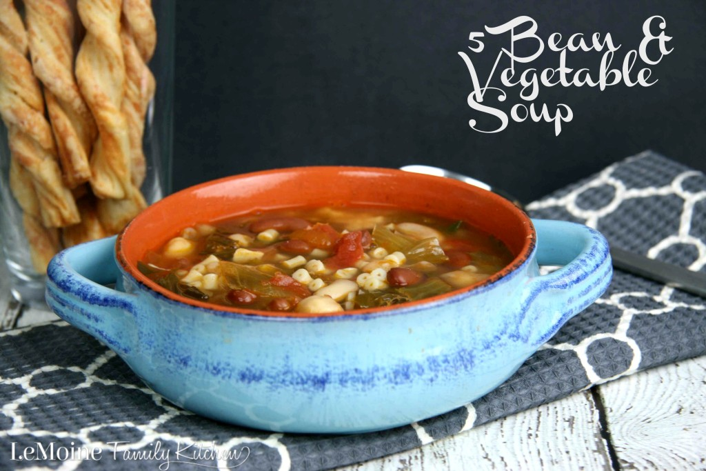 5 Bean & Vegetable Soup | LeMoine Family Kitchen ...Delicious healthy and hearty soup! Also, my review of the Bru Joy Can Opener!