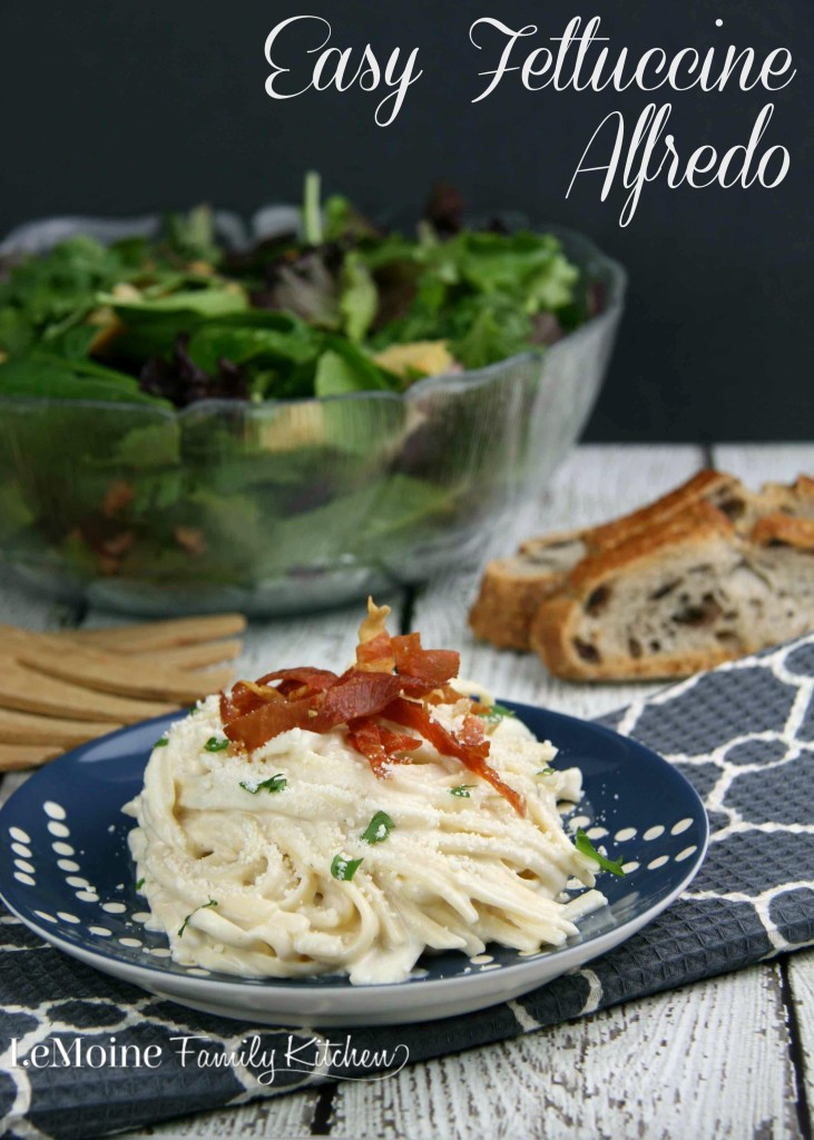 Easy Fettuccine Alfredo | LeMoine Family Kitchen  Rich, luscious, absolutely delicious quick and easy pasta dish!!!