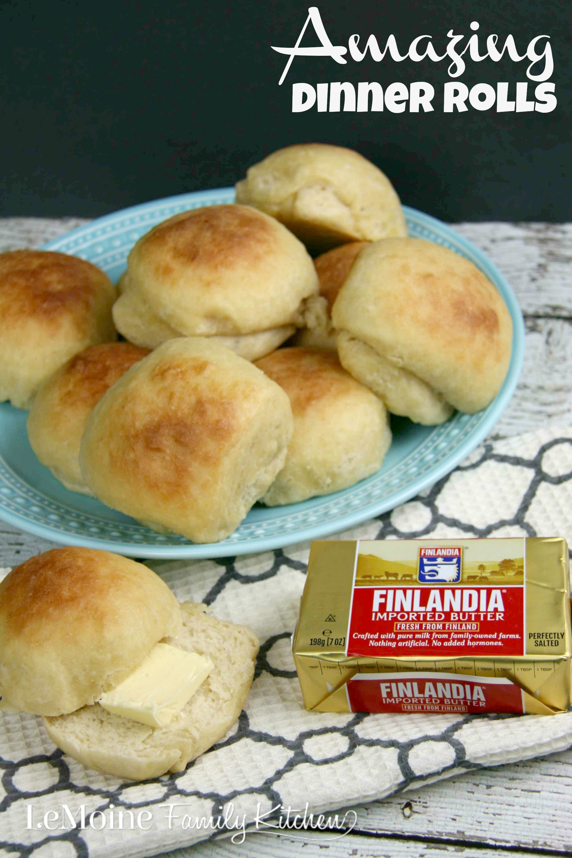 Amazing Dinner Rolls | LeMoine Family Kitchen. Homemade dinner rolls that are perfectly tender, just slightly sweet and perfectly buttery!