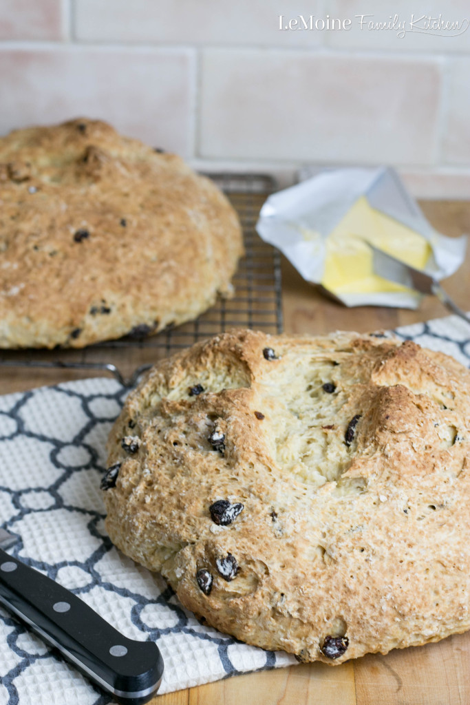 Irish Soda Bread | LeMoine Family Kitchen.  I've made this recipe so many times and every time it is PERFECT!  Perfect for St. Patricks Day or just because!