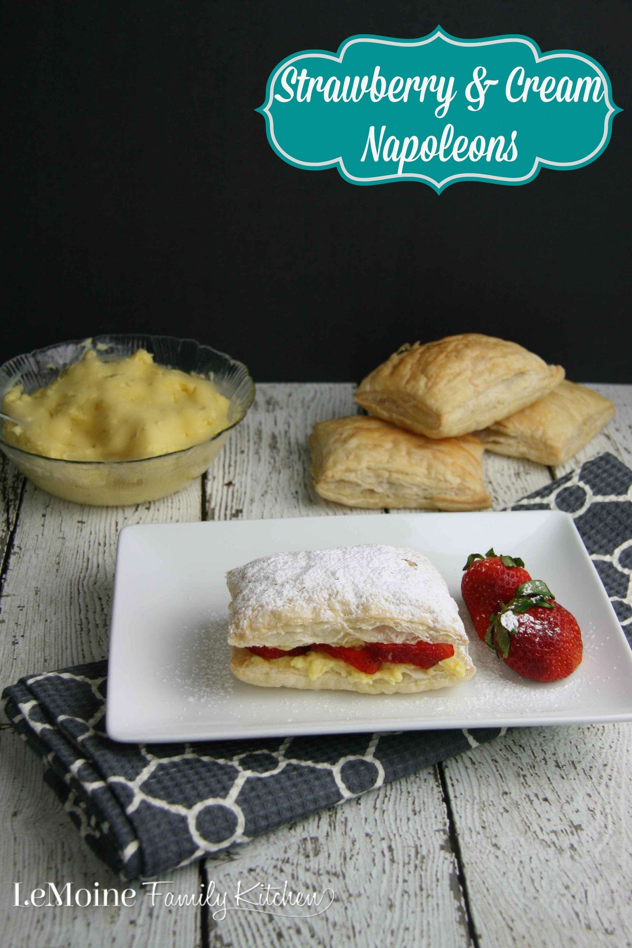 Strawberry & Cream Napoleons