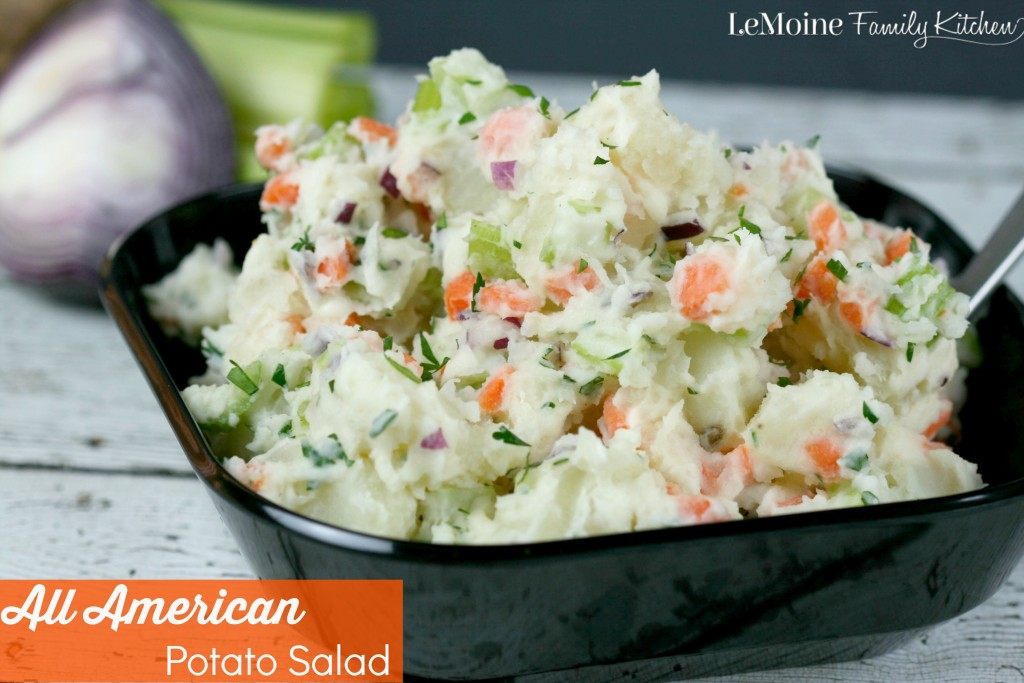 All American Potato Salad | LeMoine Family Kitchen . Perfect side dish for all your summer grilled meals!