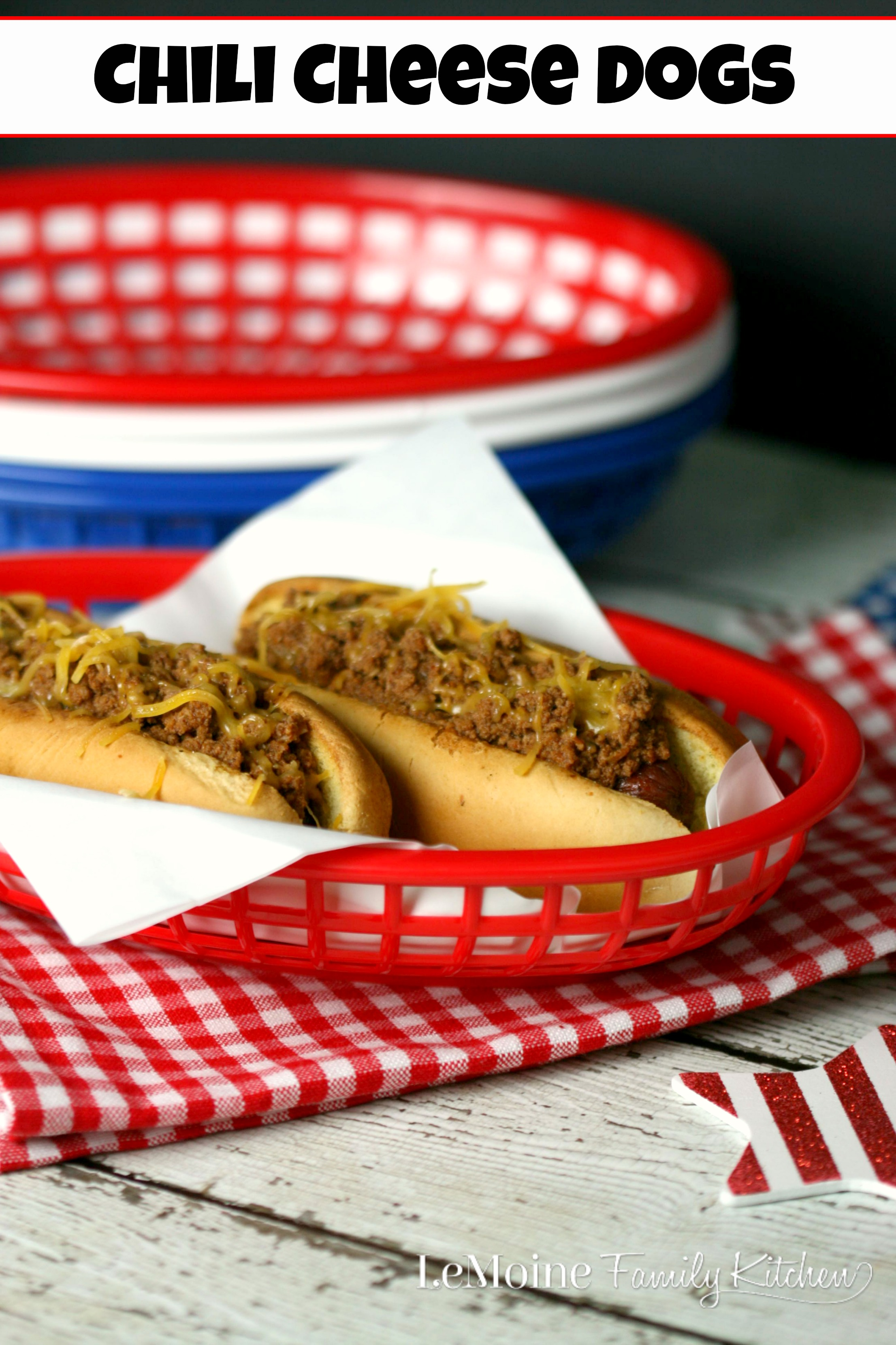 Chili Cheese Dogs | LeMoine Family Kitchen. Grilling season is here and I love a good chili dog! Perfect for Memorial Day and 4th Of July BBQs too!