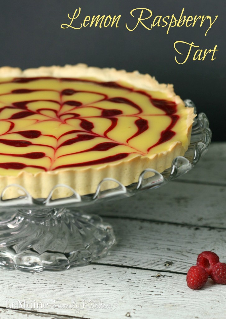 Lemon Raspberry Tart | LeMoine Family Kitchen Sweet raspberries from @driscollsberry are the just the perfect pairing with homemade lemon curd. This tart is the perfect #raspberrydessert