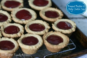 Peanut Butter & Jelly Cookie Cups | LeMoine Family Kitchen... Cookie lovers rejoice! These PB&J Cookie Cups are dessert perfection!