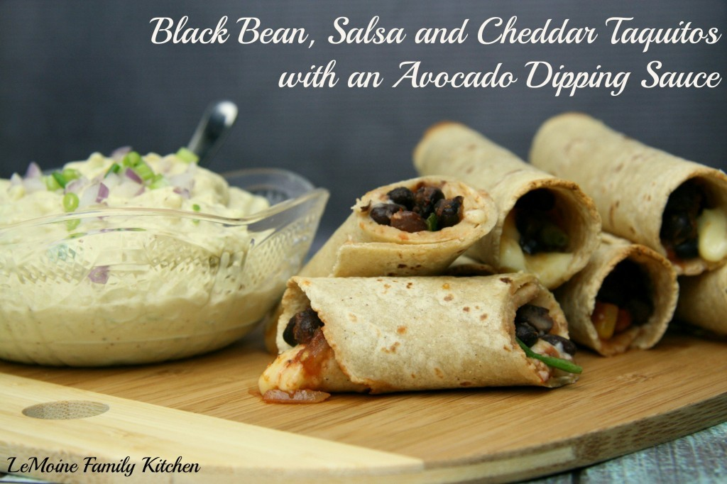 Black Bean, Salsa & Cheddar Taquitos