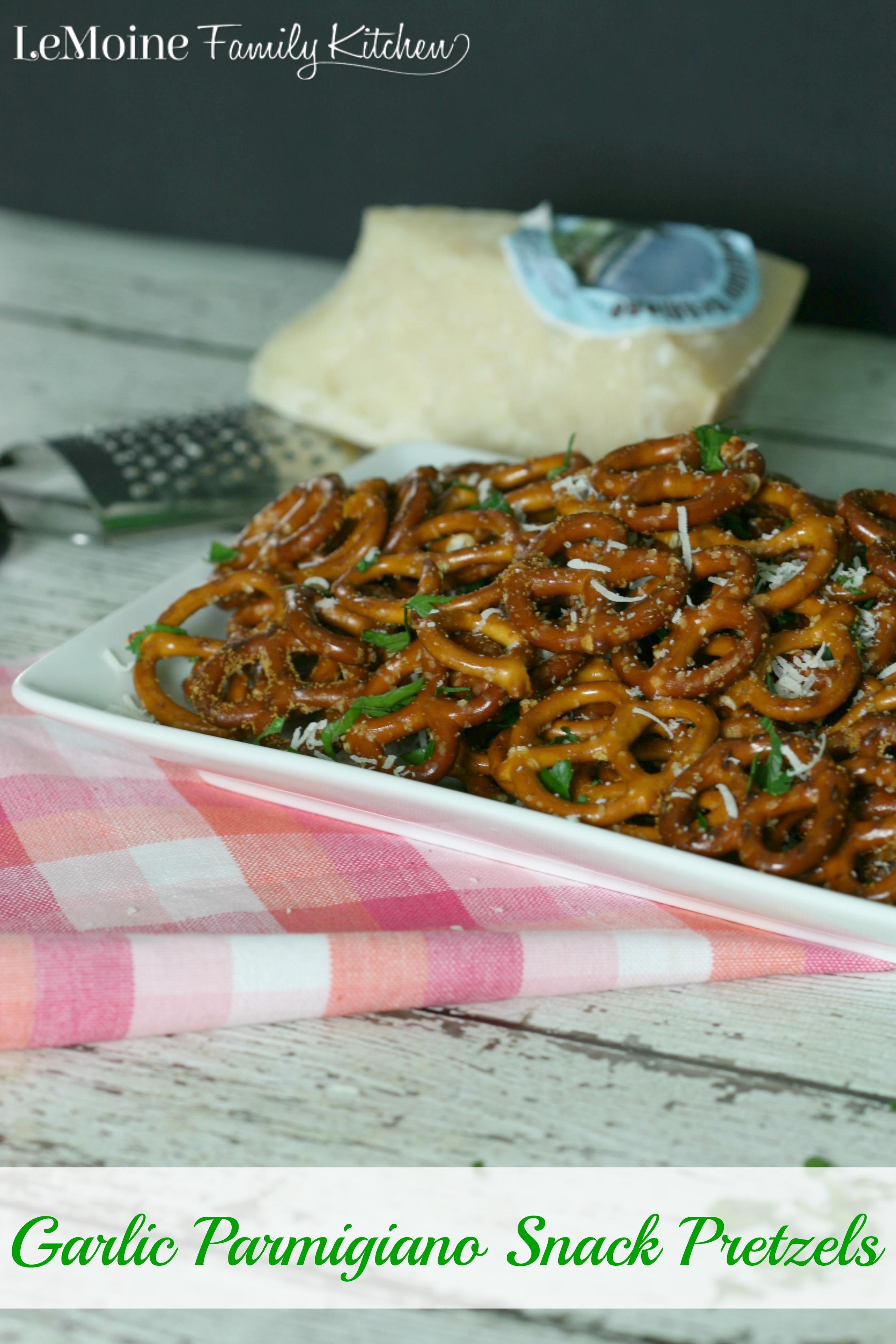 Garlic Parmigiano Snack Pretzels