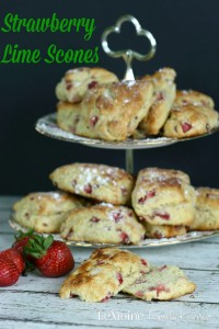 Strawberry Lime Scones | LeMoine Family Kitchen . These scones are perfect for breakfast, brunch or dessert and really easy to make!