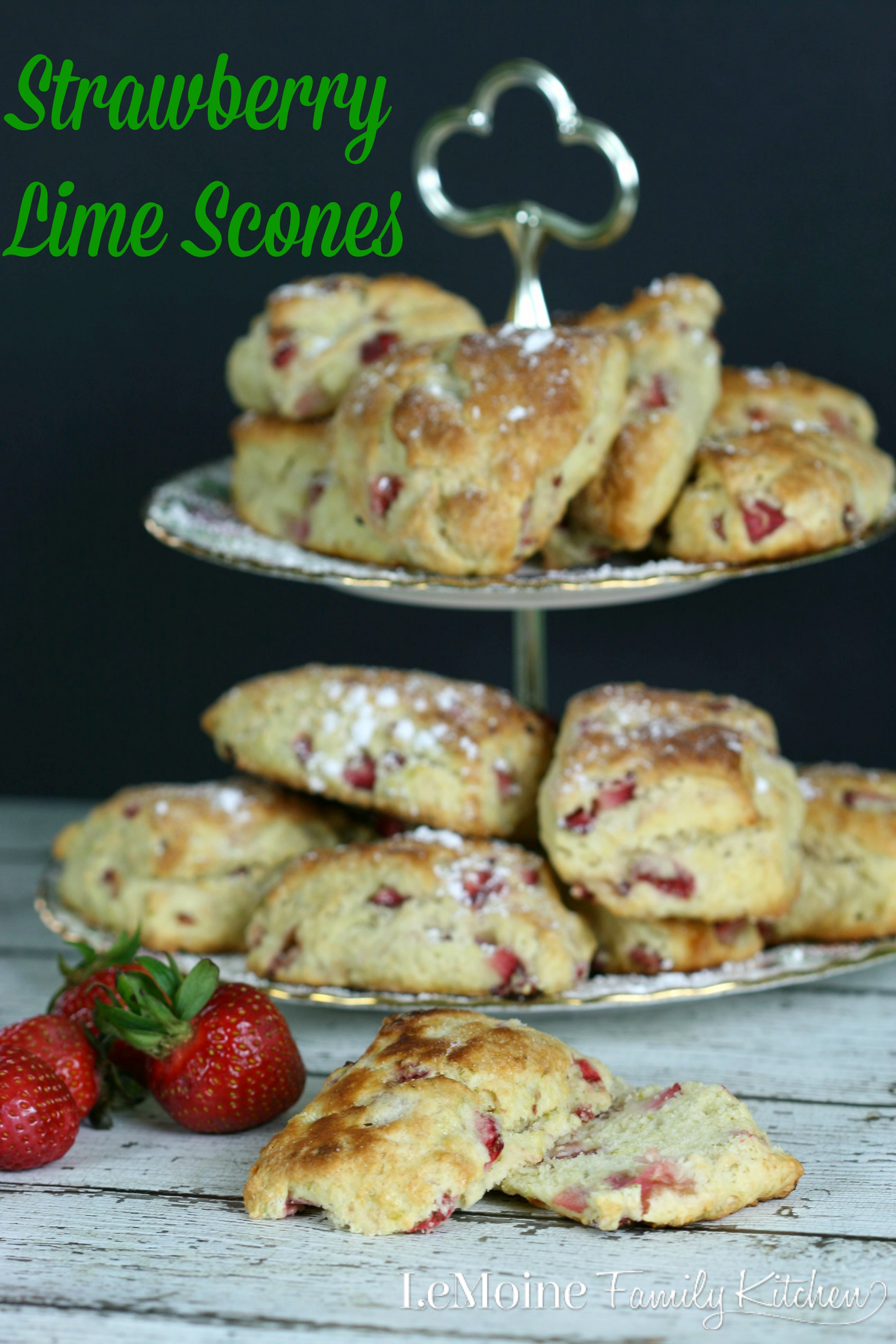 Strawberry Lime Scones