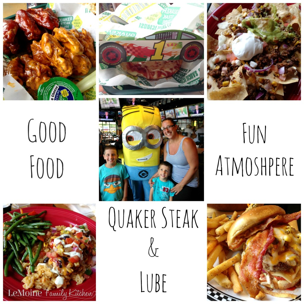 Our Family Night Out at Quaker Steak & Lube- Brick NJ | LeMoine Family Kitchen. Cool atmosphere, good food & lots of fun!