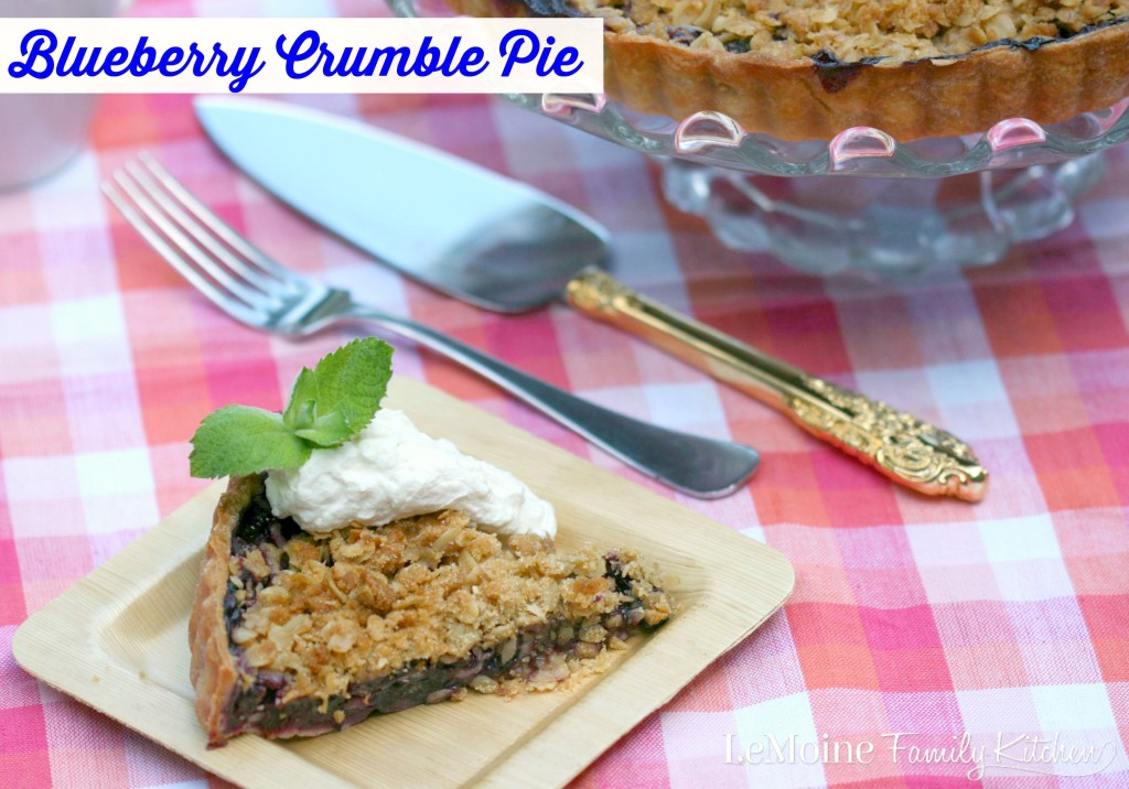 Blueberry Crumble Pie | LeMoine Family Kitchen . The most perfect pie. Fresh blueberry filling , a light crust and that amazing crumble topping. Just heavenly!