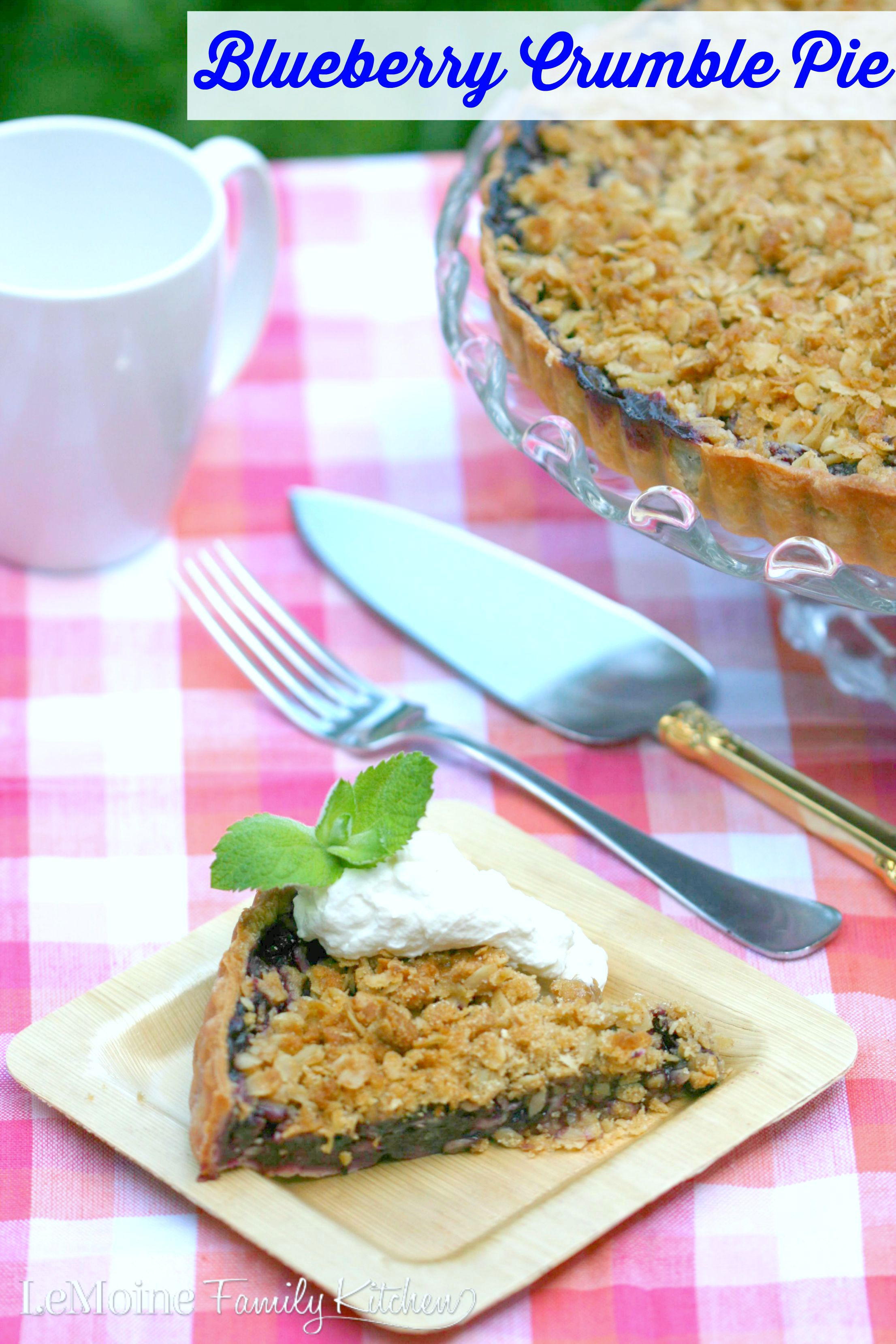 Blueberry Crumble Pie | LeMoine Family Kitchen