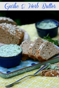 Garlic & Herb Butter   LeMoine Family Kitchen. Flavored butters are a simple and great way to add tons of flavor to bread, steak or seafood.