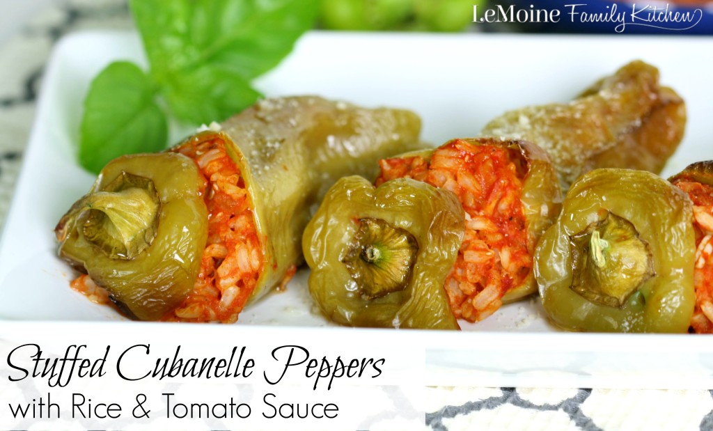 Stuffed Cubanelle Peppers with Rice & Tomato Sauce  | LeMoine Family Kitchen.