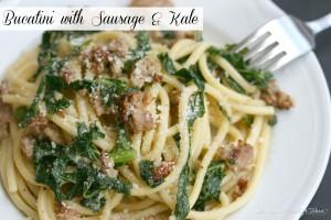 Bucatini with Sausage & Kale   LeMoine Family Kitchen