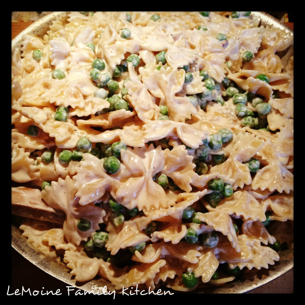 Farfalle & Peas in a Light Cream Sauce | LeMoine Family Kitchen