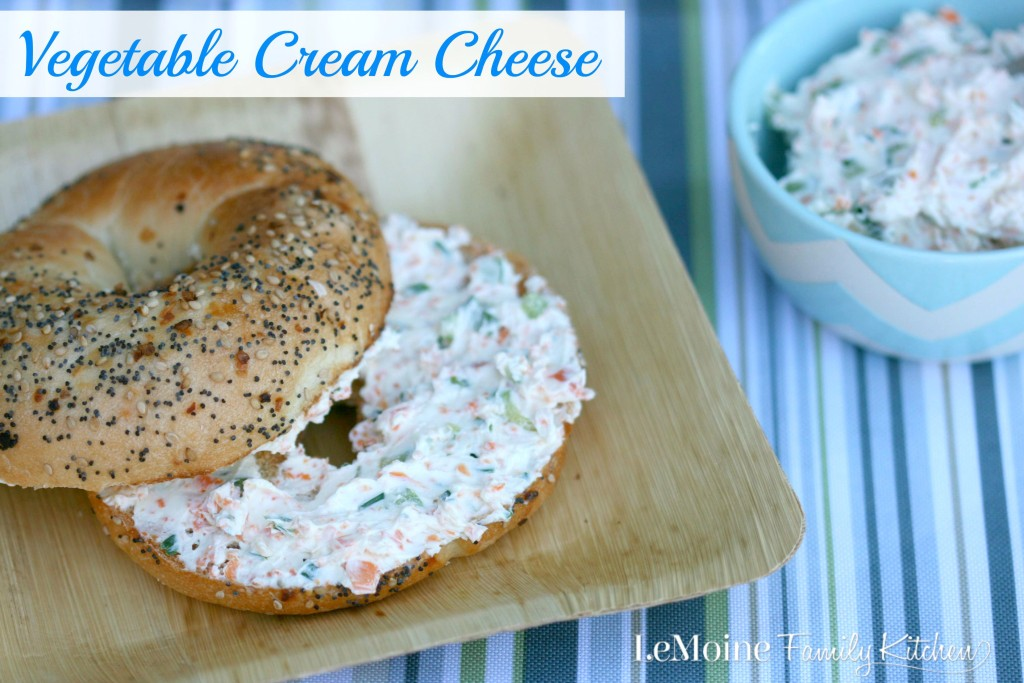 Vegetable Cream Cheese |LeMoine Family Kitchen. Make your own veggie packed cream cheese. Fresher then anything store bought.