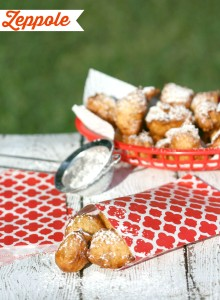 Zeppole :: Italian Street Food | LeMoine Family Kitchen . This right here is the ULTIMATE treat when it comes to Italian Street Food. Perfectly delicious fried dough covered in powdered sugar.