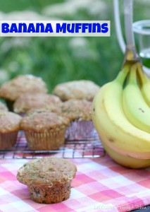 Banana Muffins | LeMoine Family Kitchen . Perfect use of ripe bananas. These are simple and delicious. Great breakfast muffin & kid approved too!