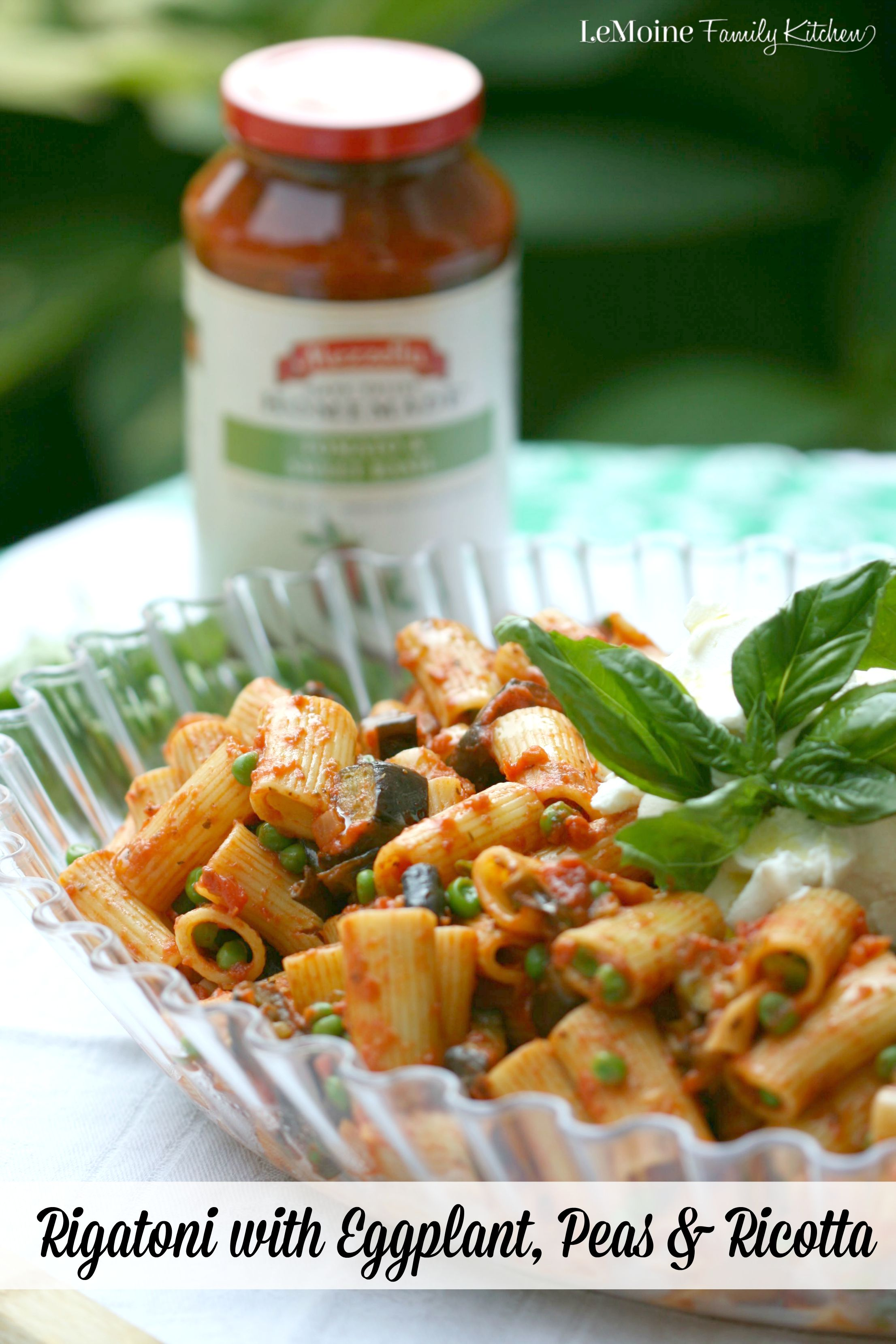 Easy rigatoni recipe with ricotta
