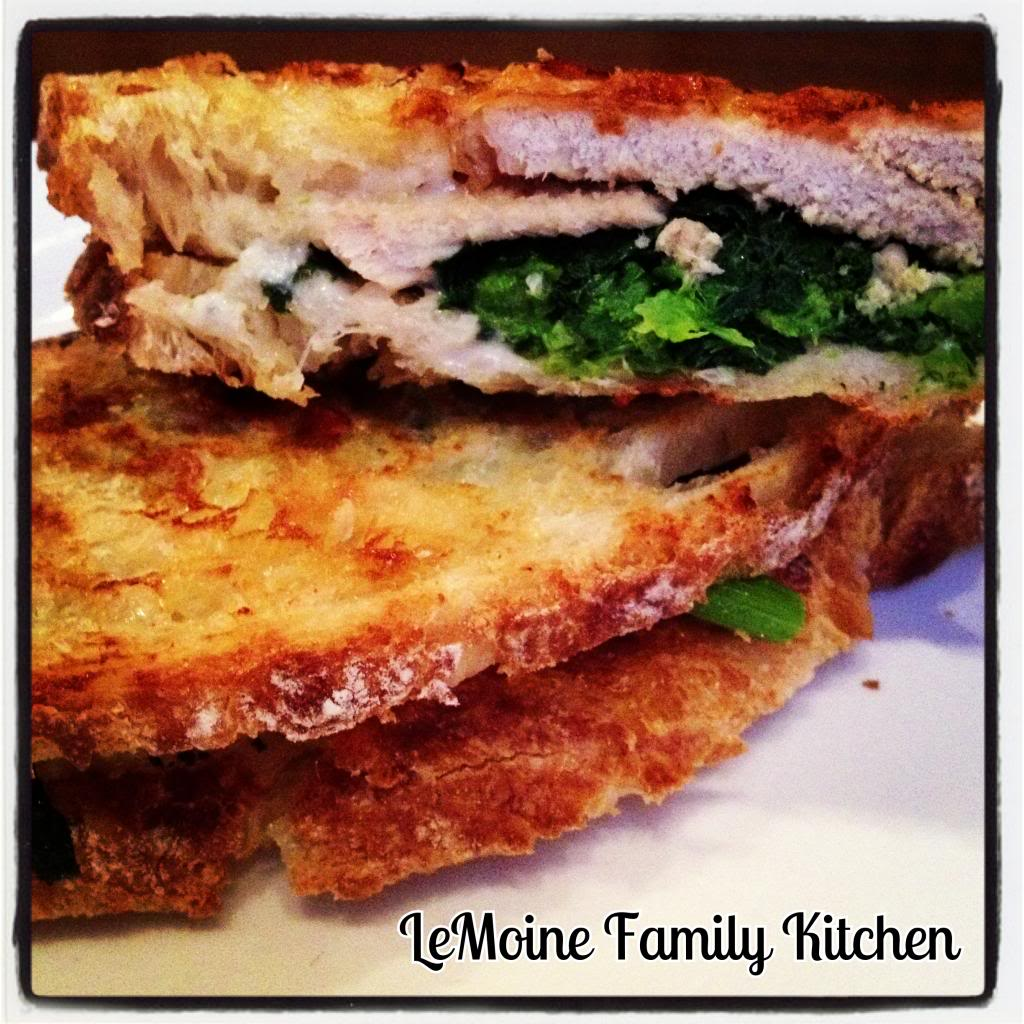 Roast Pork, Broccoli Rabe & Provolone Panini