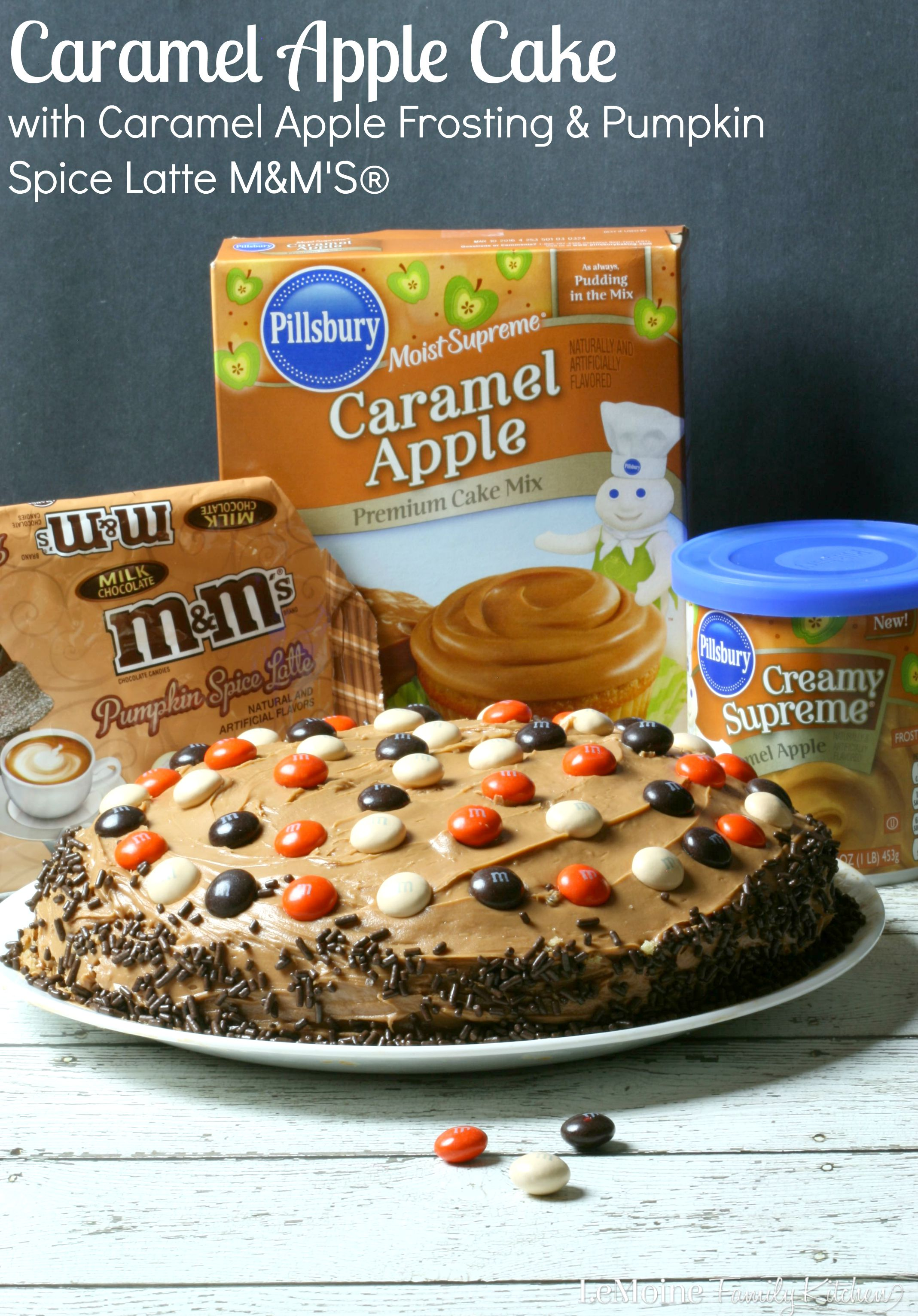 Caramel Apple Cake with Caramel Apple Frosting & Pumpkin Spice Latte M&M'S®
