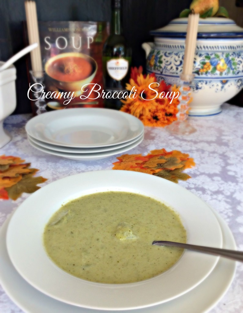 Creamy Broccoli Soup | LeMoine Family Kitchen. A wonderful recipe from my friend Patty from Cooking on a Budget is sharing this delicious comforting soup.