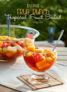 Tizana :: Tropical Fruit Salad   LeMoine Family Kitchen. Bright, fresh, healthy recipe thanks to Cami at The Crafting Nook!