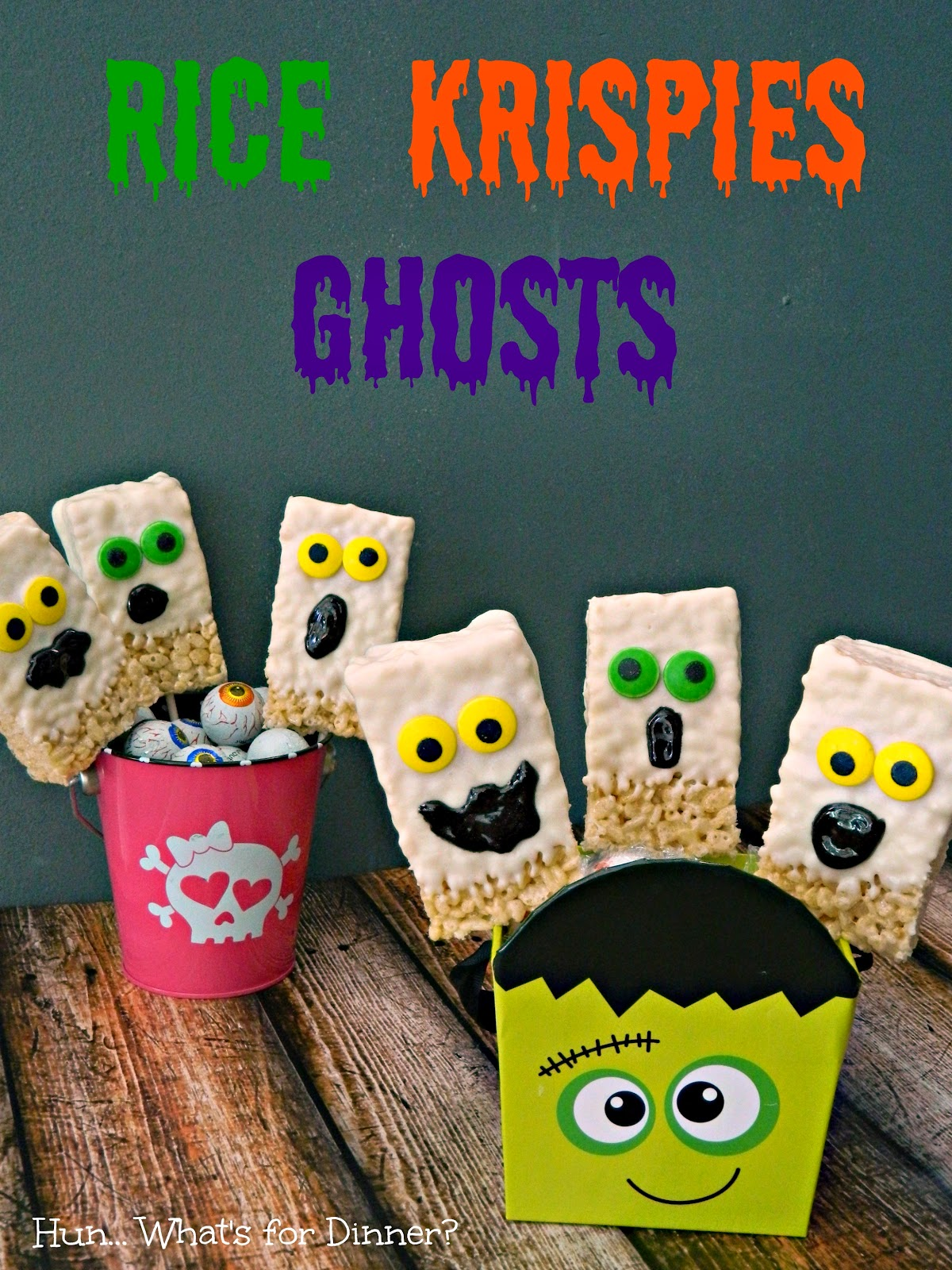 Krispie Rice Cereal Ghost Pops