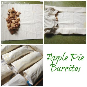 Apple Pie Burritos   LeMoine Family Kitchen . A really simple and delicious dessert perfect for the Fall season. Flaky , crisp phyllo dough wrapped around sweet and tender apples.