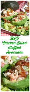 BLT Chicken Salad Stuffed Avocados | LeMoine Family Kitchen . Healthy, incredibly delicious and easy meal. The colors, textures and flavors all work so great together. And besides, bacon makes everything better!