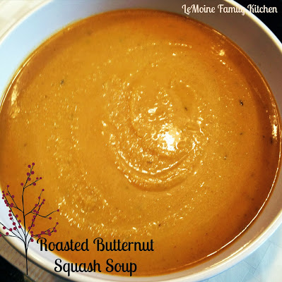 Roasted Butternut Squash & Apple Soup | LeMoine Family Kitchen