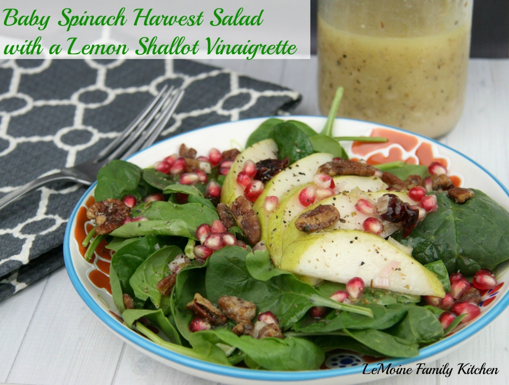 Baby Spinach Harvest Salad with a Lemon Shallot Vinaigrette | LeMoine ...