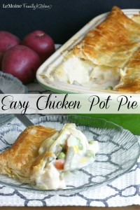 Easy Chicken Pot Pie | LeMoine Family Kitchen . An all American comfort food made really easy! The whole family will love it!